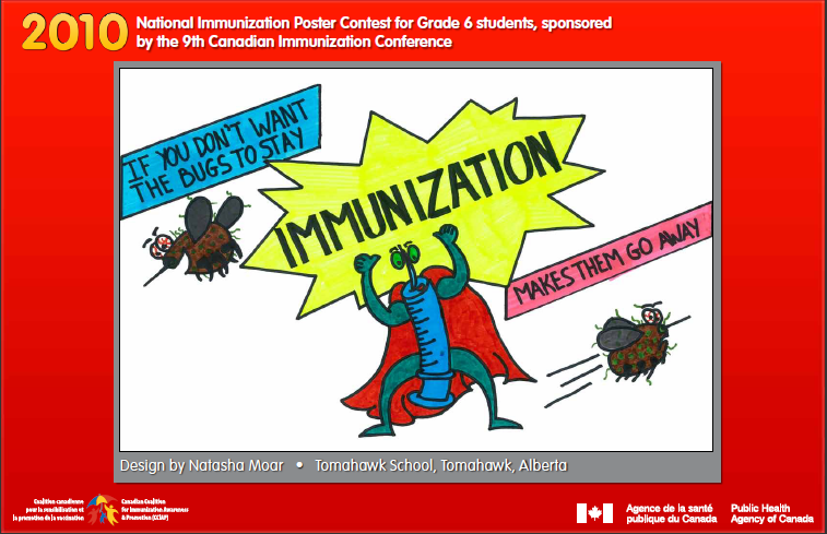 canada u2019s national immunization poster contest winners